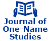 Award-winning Journal of One-Name Studies